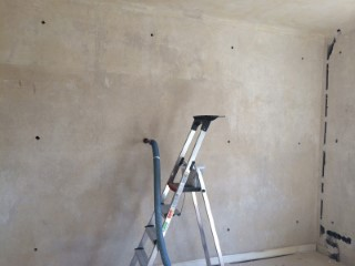 Zweischaliges Mauerwerk mit Glaswolle gedämmt