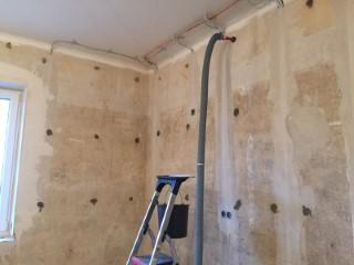 Zweischaliges Mauerwerk mit Steinwolle Paroc BLT7 WLG 038 ausgeblasen