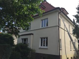 Stadtvilla / Außenwand mit EPS Granulat 033 verfüllt