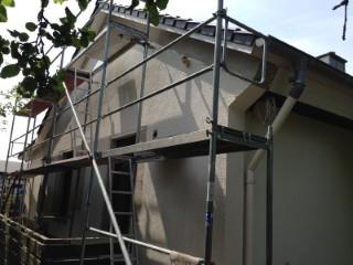 Doppelschaliges Mauerwerk mit Isofloc H2Wall verfüllt