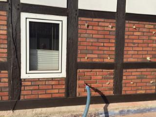 Zweischaliges Mauerwerk im Fachwerkhaus mit Steinwolle BLT7 gedämmt