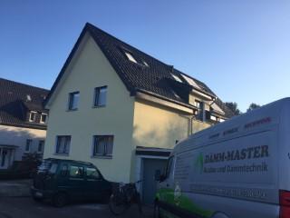 Fertig gedämmte Außenwand im Einfamilienhaus