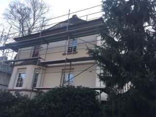 Stadtvilla Außenwand mit Knauf Supafil Glaswolle WLG 035 gedämmt