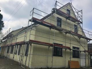 Ungedämmte Fassade im Mehrfamilienhaus