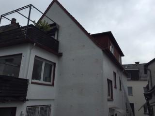 Zweischaliges Mauerwerk mit Steinwolle Paroc BLT7 ausgeblasen
