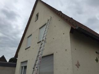 Zweischaliges Mauerwerk im Einfamilienhaus mit SUPAFIL von Knauf gedämmt
