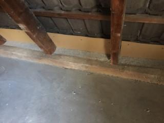 Dachschräge - Sparrenfelder nachträglich mit Zellulose WLG 040 gedämmt
