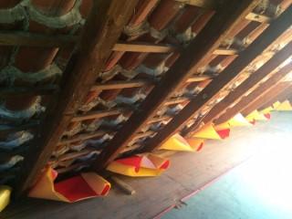 Dämmung von ausgebauten Dachschrägen mittels Dämmsackverfahren