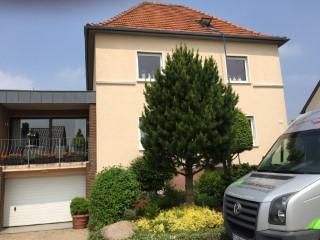 Oberste Geschoßdecke im Einfamilienhaus mit EPS Granulat WLG 033 gedämmt