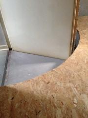Oberste Geschossdecke mit Styropor 200mm gedämmt und mit OSB-Platten verkleidet