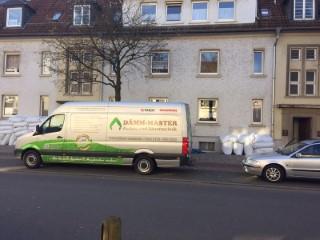 Preussische Kappendecke im Mehrfamilienhaus mit Isofloc Pearl WLG 033 ausgeblasen
